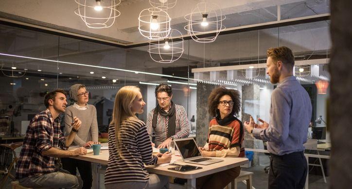 Entrepreneurs in discussion