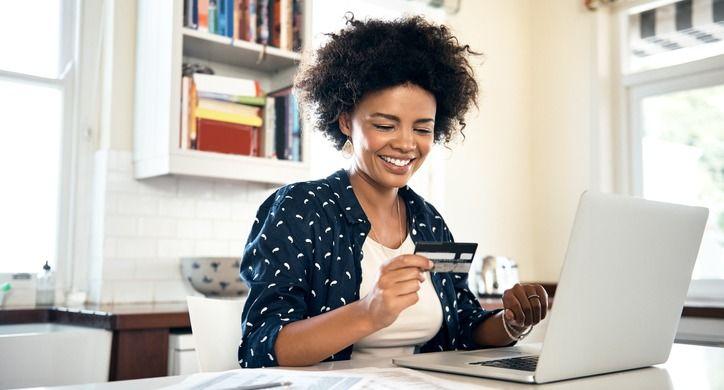 Woman payroll card