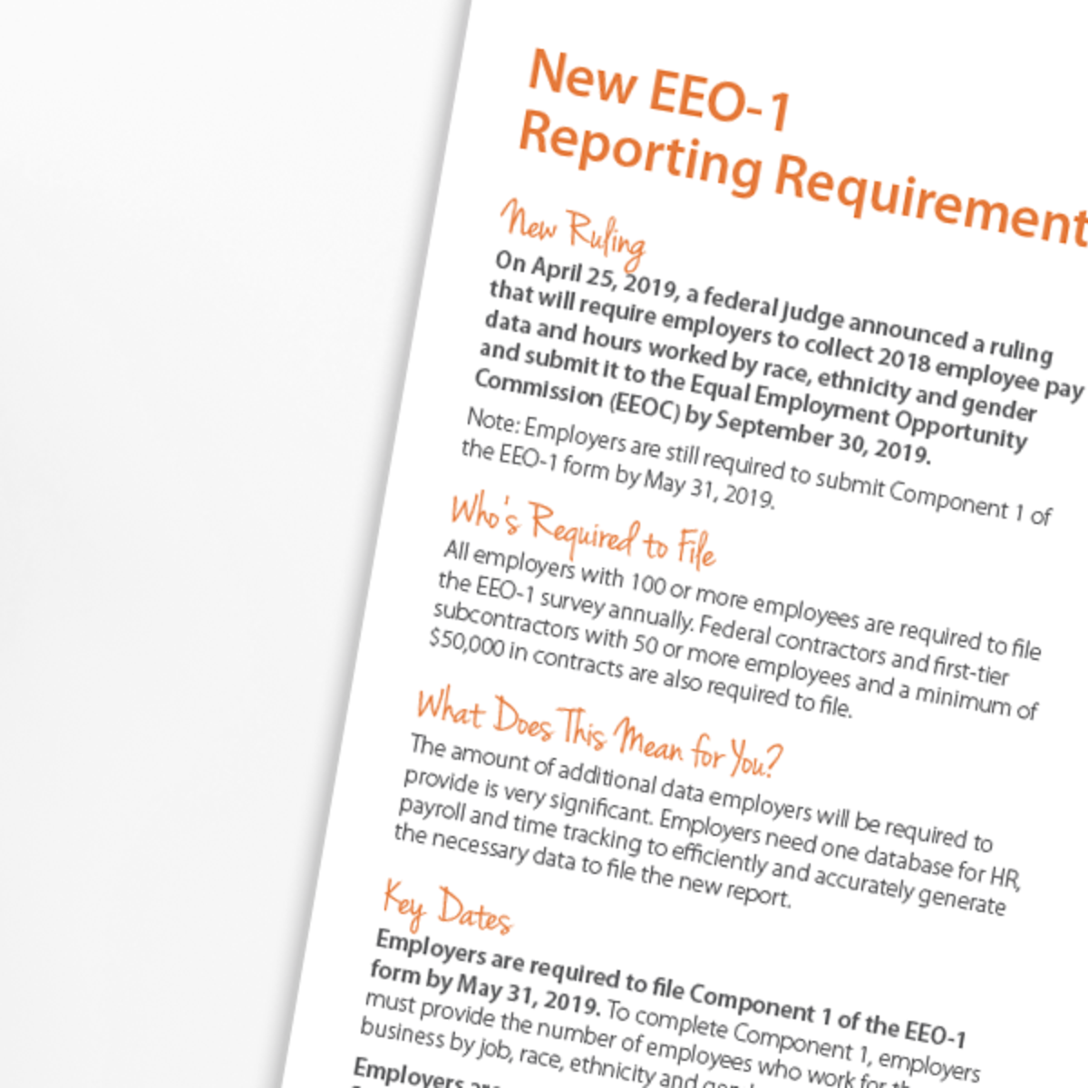 Essential EEOC Guide to New EEO-1 Reporting | Paycor