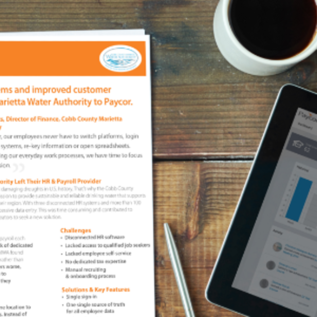 Case Study: Cobb County Marietta Water Authority | Paycor